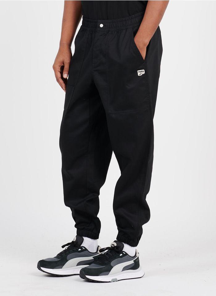 PUMA Pantalon en coton Noir