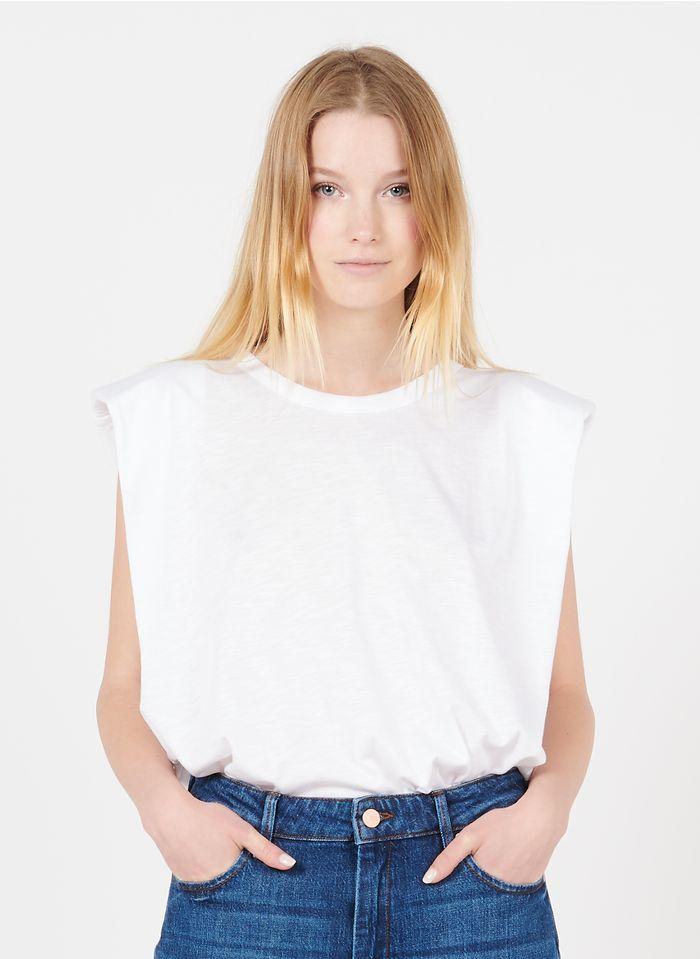 REIKO Tee-shirt col rond en coton organique Blanc