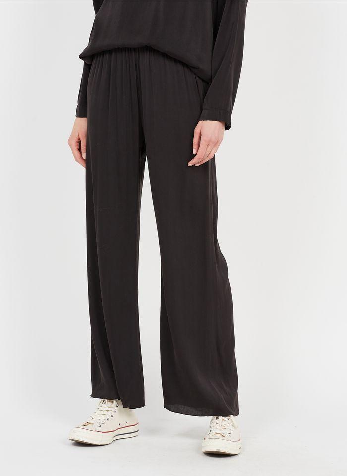 SACK S Pantalon fluide en soie mélangée Noir