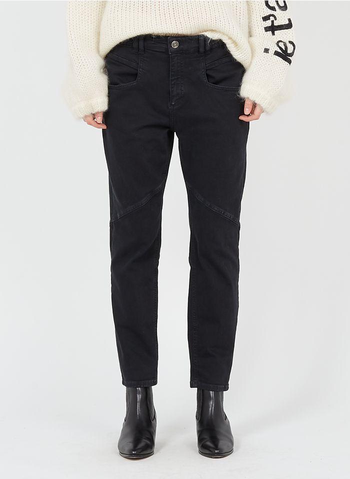 SACK S Pantalon skinny en coton mélangé Noir