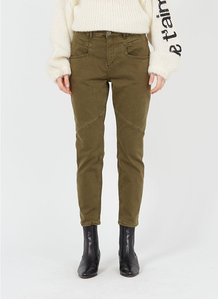 SACK S Pantalon skinny en coton mélangé Vert