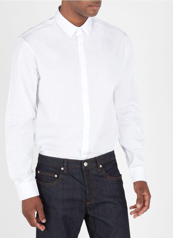 SANDRO Chemise col classique regular-fit en coton Blanc