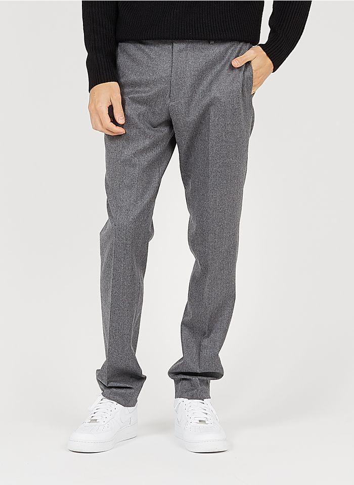 SANDRO Pantalon de costume droit en laine Gris