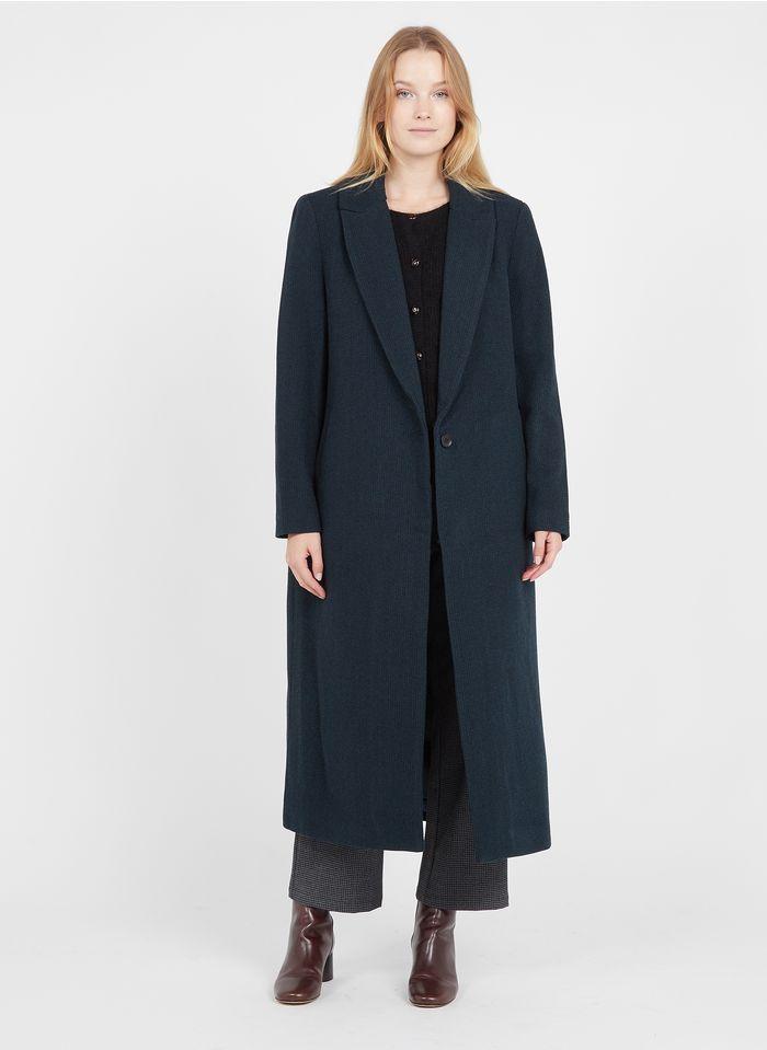 SEE U SOON Manteau col tailleur oversize  Bleu