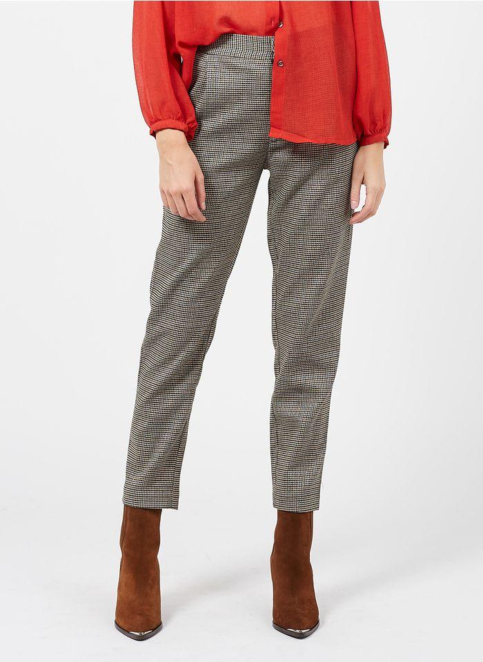SEE U SOON Pantalon droit 7/8 en tweed Noir