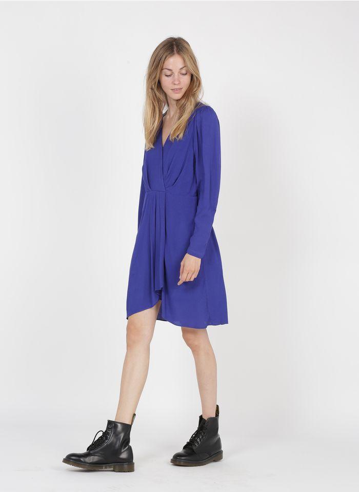 SEE U SOON Robe courte col V Bleu