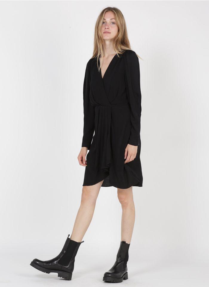 SEE U SOON Robe courte col V Noir
