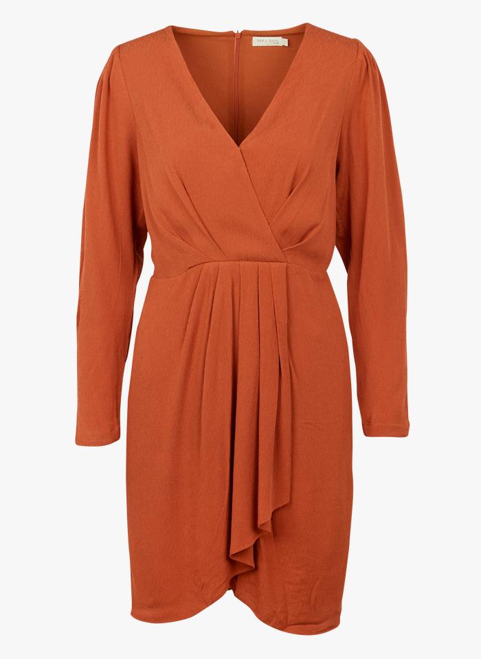 SEE U SOON Robe courte col V Orange