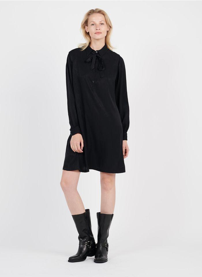 SEE U SOON Robe courte jacquard fluide Noir