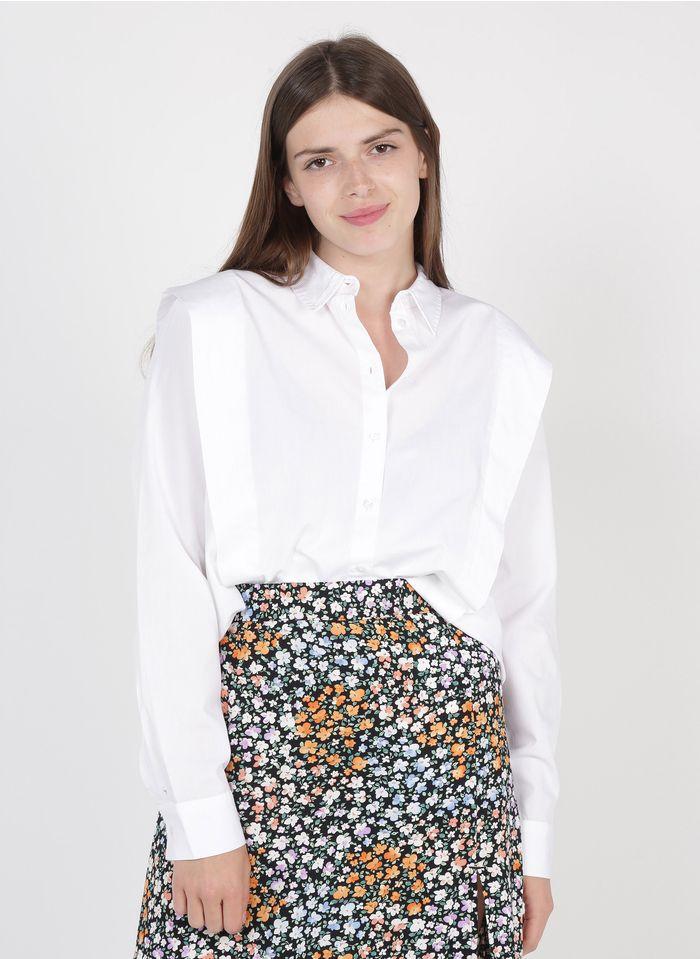 SELECTED Chemise col classique détails épaulettes en coton organique Blanc