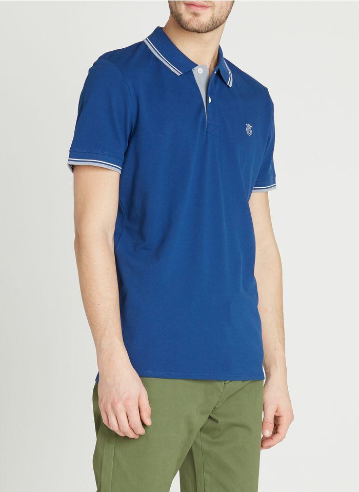 SELECTED Polo regular-fit en coton Bleu