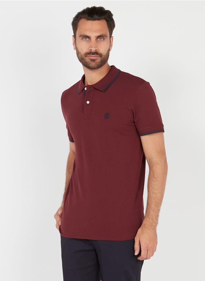 SELECTED Polo regular-fit en coton Rouge