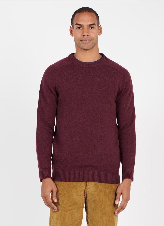 SELECTED Pull col rond regular-fit en laine Rouge