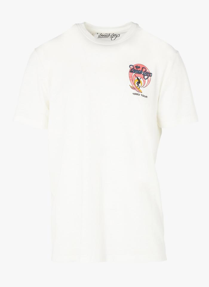 SELECTED Tee-shirt col rond imprimé  Beige