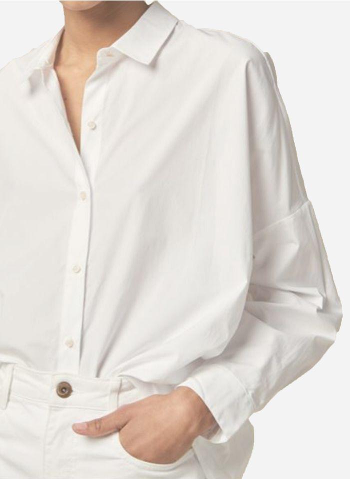 SESSUN Chemise col classique ample en coton Blanc