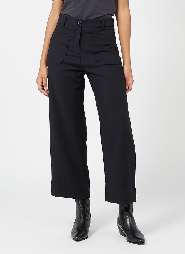 SESSUN Pantalon droit Noir