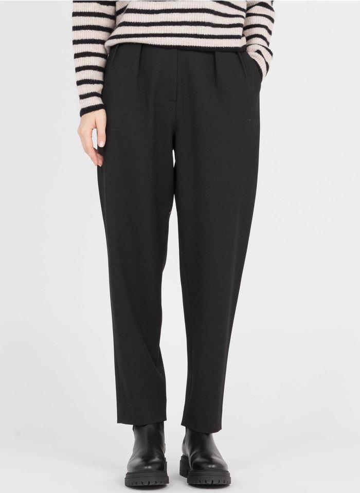 SESSUN Pantalon droit taille haute  Noir