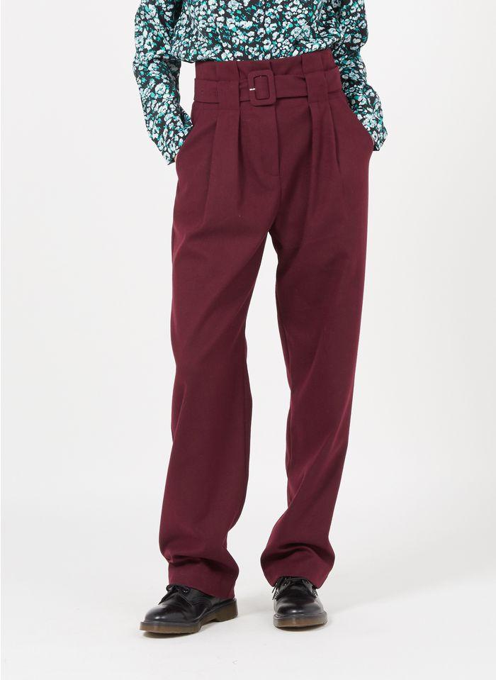 SUNCOO Pantalon droit Rouge