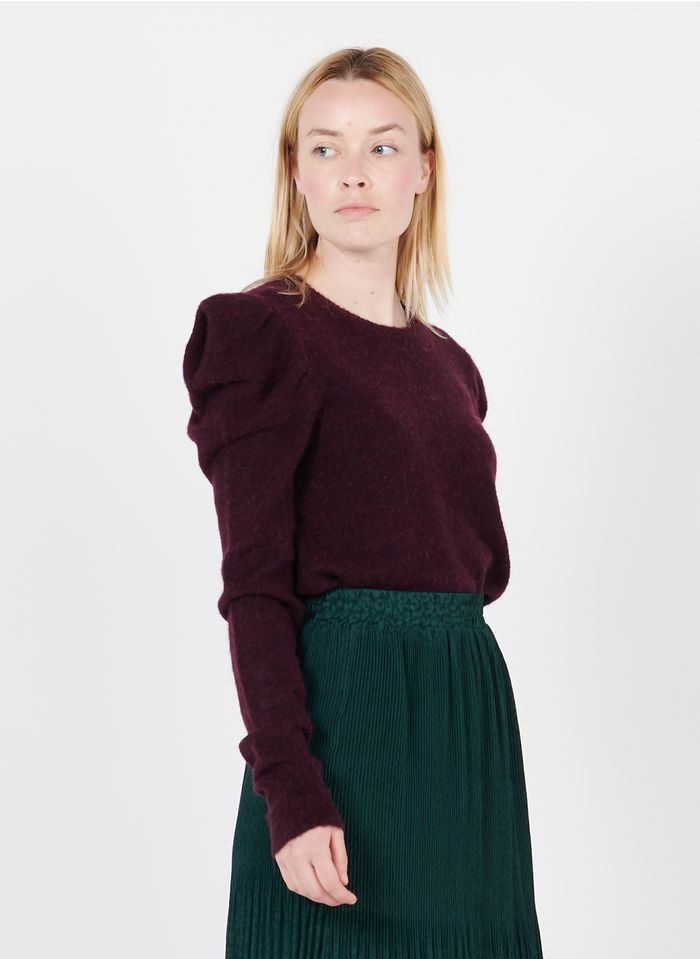 SUNCOO Pull col rond ample  Violet