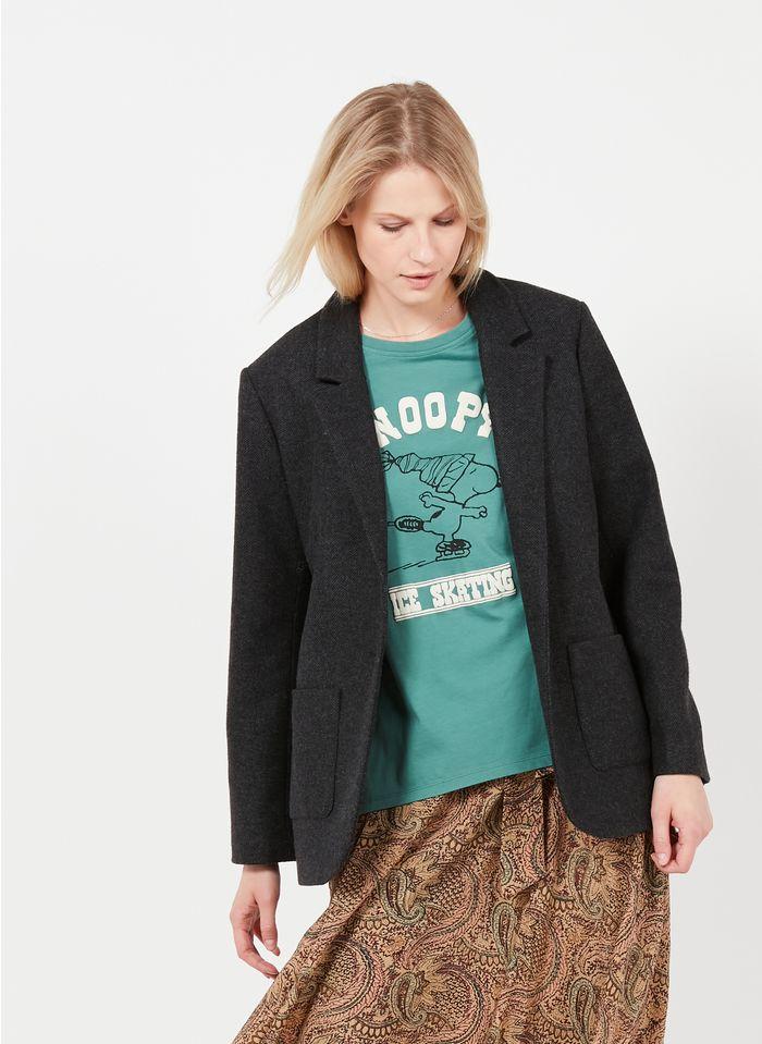 SWILDENS Veste col tailleur en laine mélangée Noir
