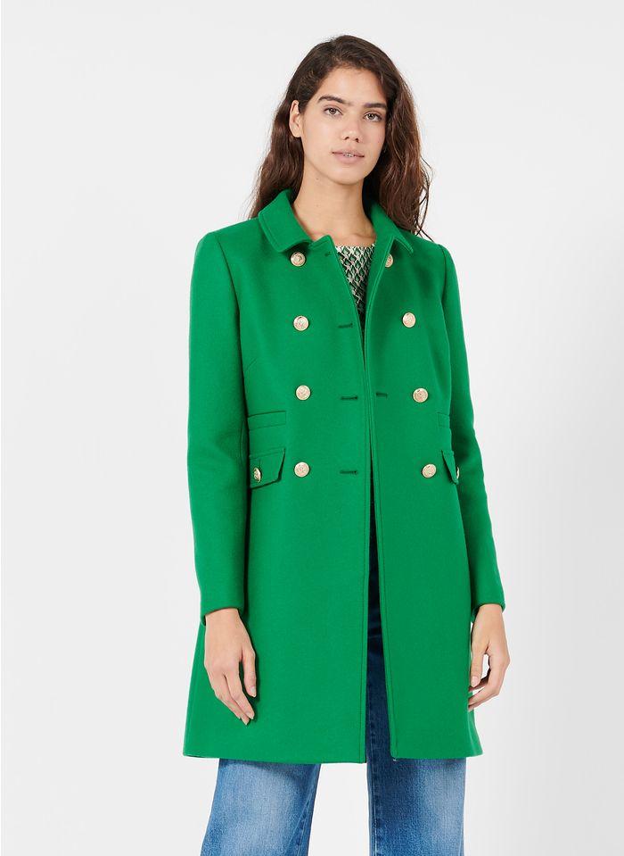TARA JARMON Manteau col classique en laine mélangée Vert