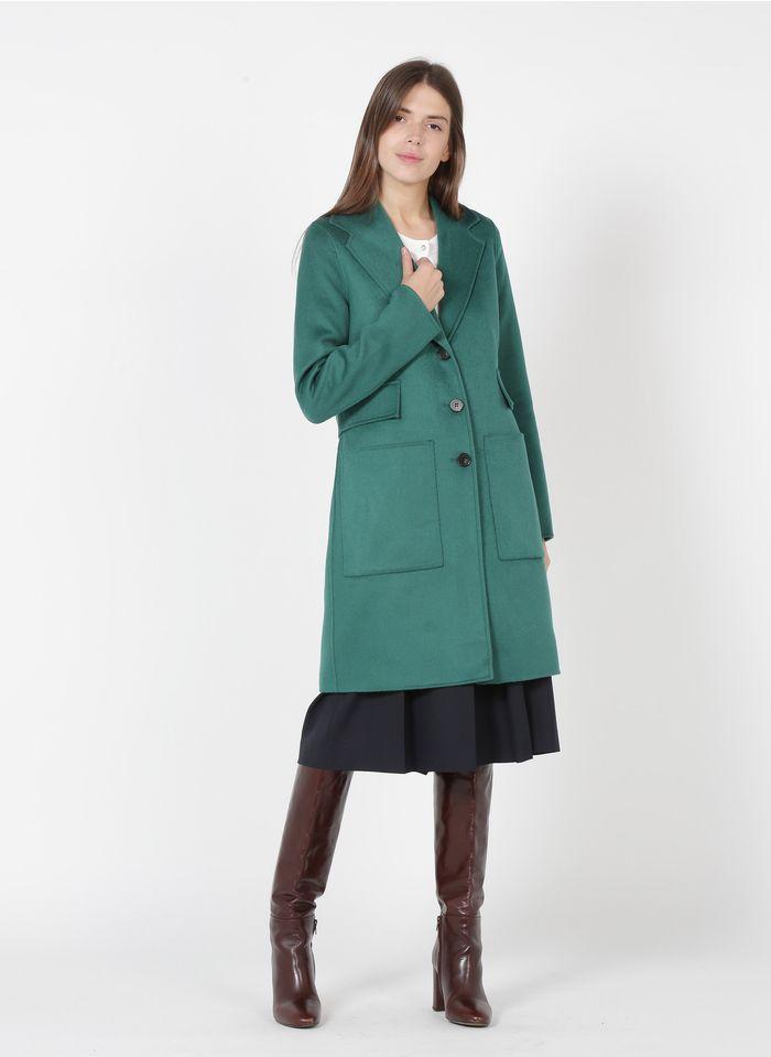 TARA JARMON Manteau col tailleur en laine mélangée Vert