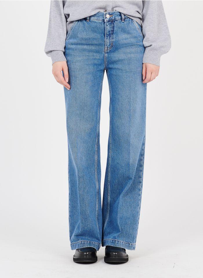 THE KOOPLES Jean flare taille haute en coton bio Jean brut