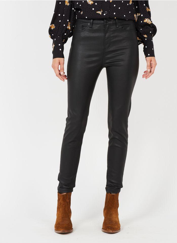 THE KOOPLES Jean slim 5 poches enduit Noir