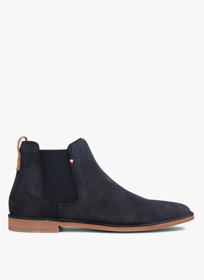 TOMMY HILFIGER Boots en cuir Bleu