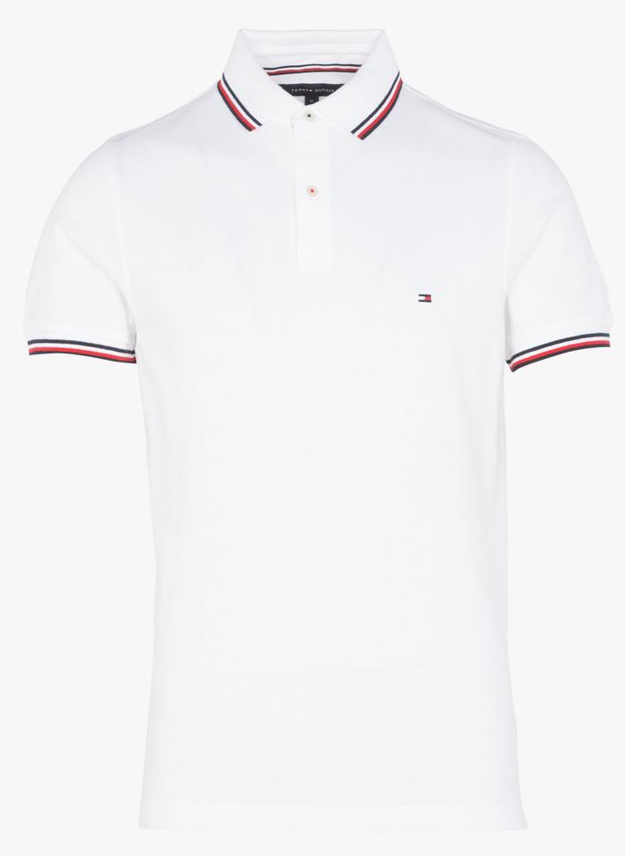 TOMMY HILFIGER Polo slim fit en coton piqué  Blanc