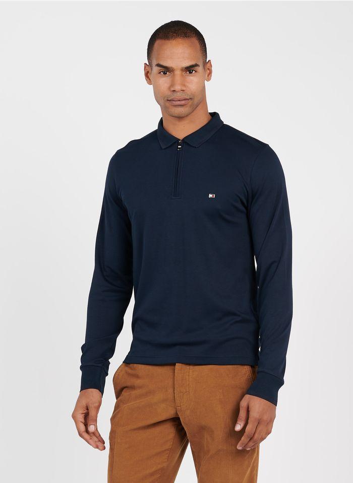 TOMMY HILFIGER Polo slim-fit zippé Bleu