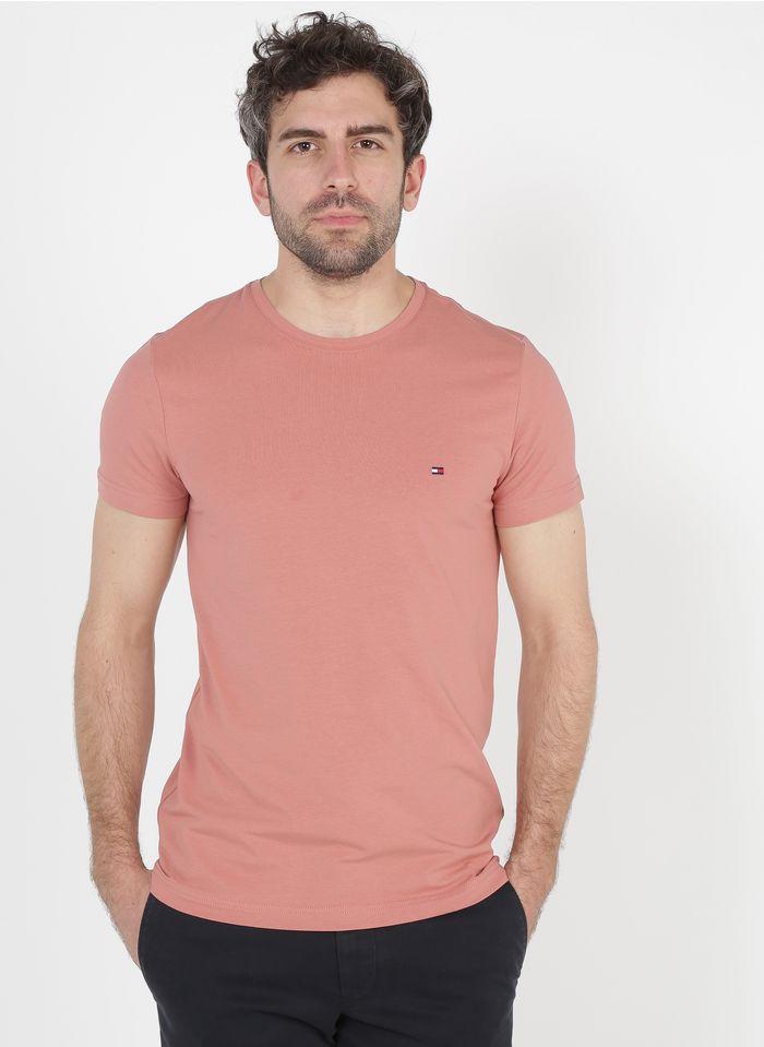 TOMMY HILFIGER Tee-shirt col rond slim-fit en coton bio Orange