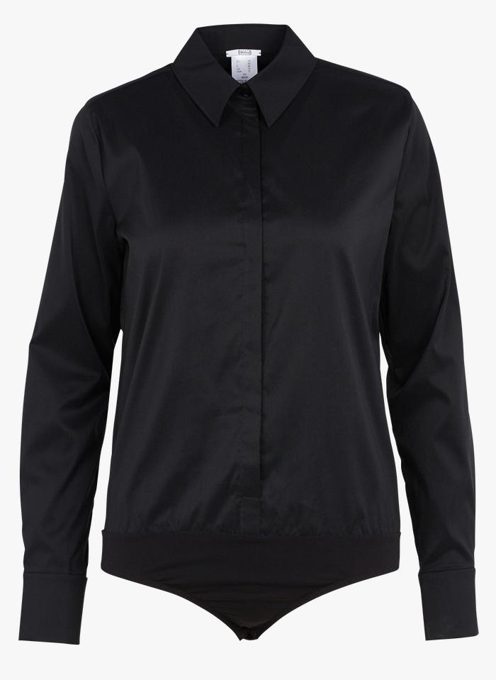 WOLFORD Body chemise en coton mélangé Noir