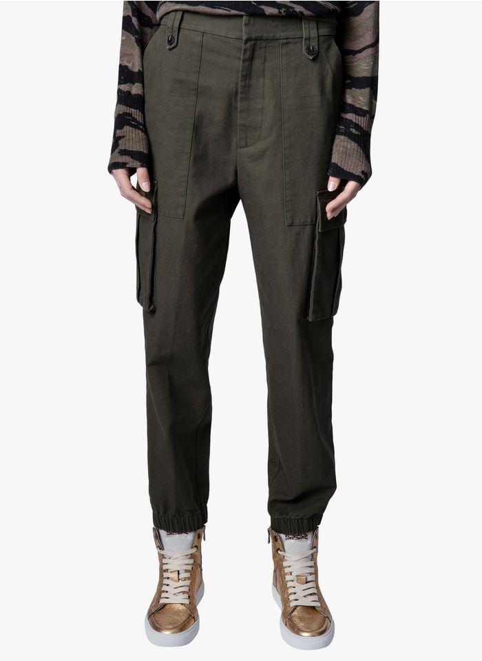 ZADIG&VOLTAIRE Pantalon droit en coton Kaki