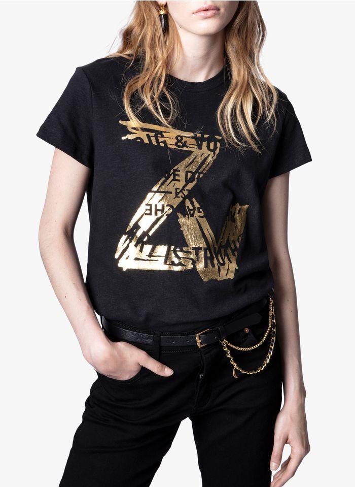 ZADIG&VOLTAIRE Tee-shirt col rond à logo en coton Noir