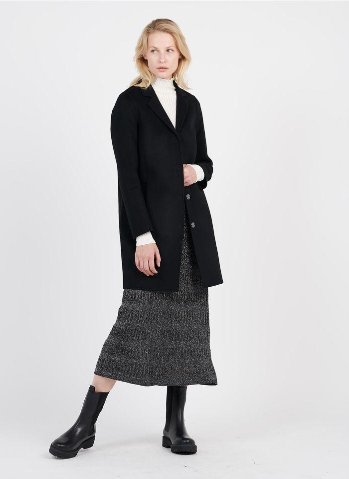 ZAPA Manteau col tailleur en laine mélangée Noir