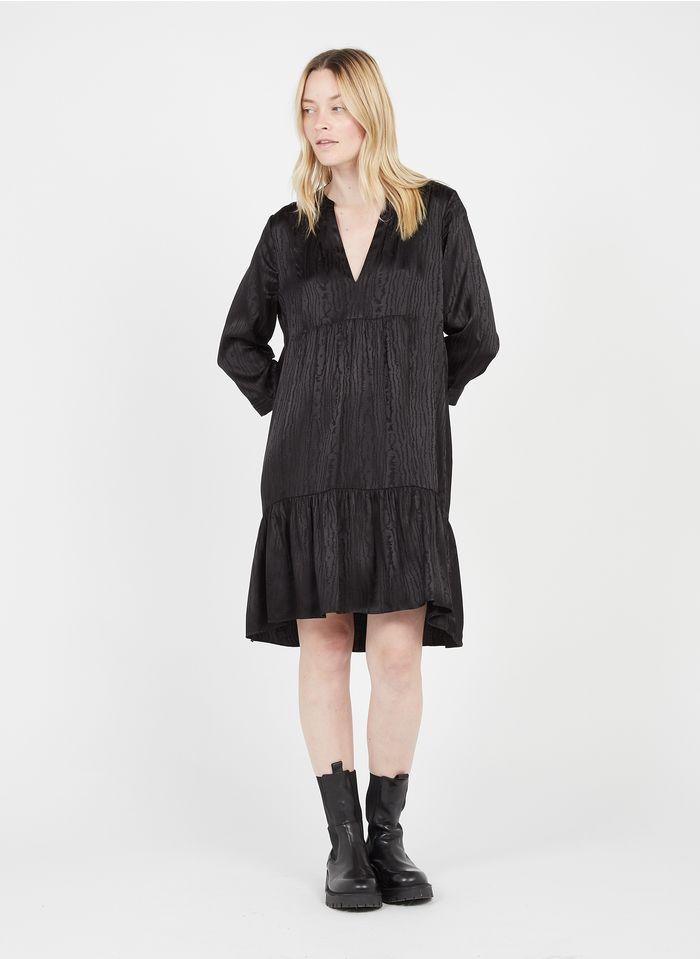 ZAPA Robe courte col tunisien Noir