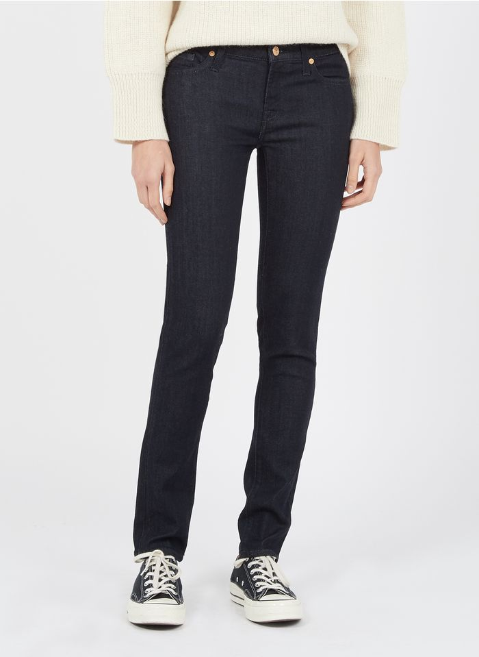 7 FOR ALL MANKIND Raw denim Skinny jeans