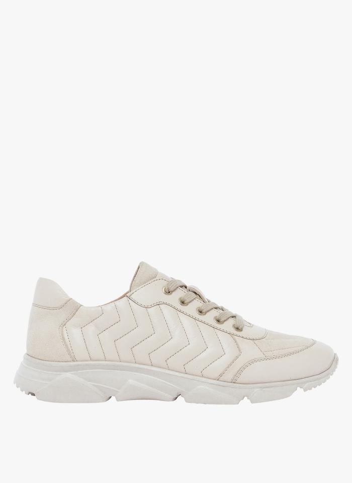 BOCAGE Sneakers basse in pelle Beige