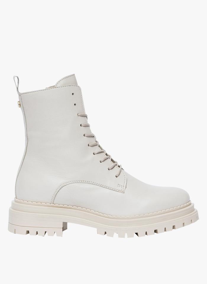 BOCAGE Stivali in pelle Bianco