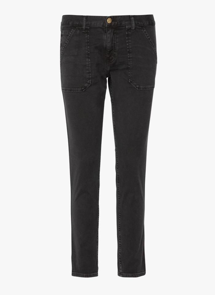 ACQUAVERDE Rechte jeans met normale taille Zwart