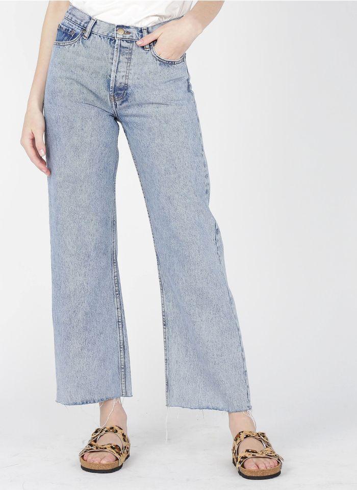 ACQUAVERDE Wijde jeans met hoge taille Jeans verschoten