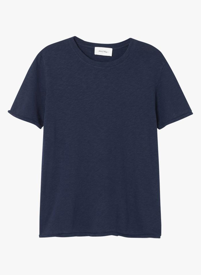 AMERICAN VINTAGE Katoenen T-shirt met ronde hals Blauw