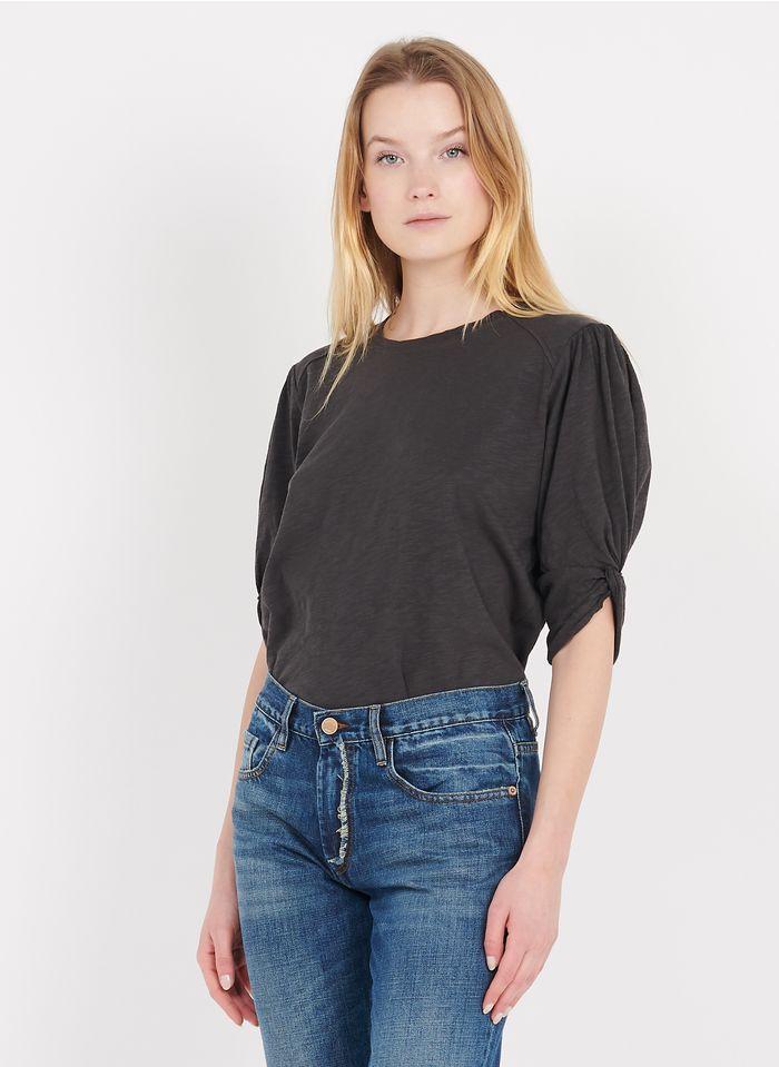 BA & SH Katoenen T-shirt met ronde hals Grijs