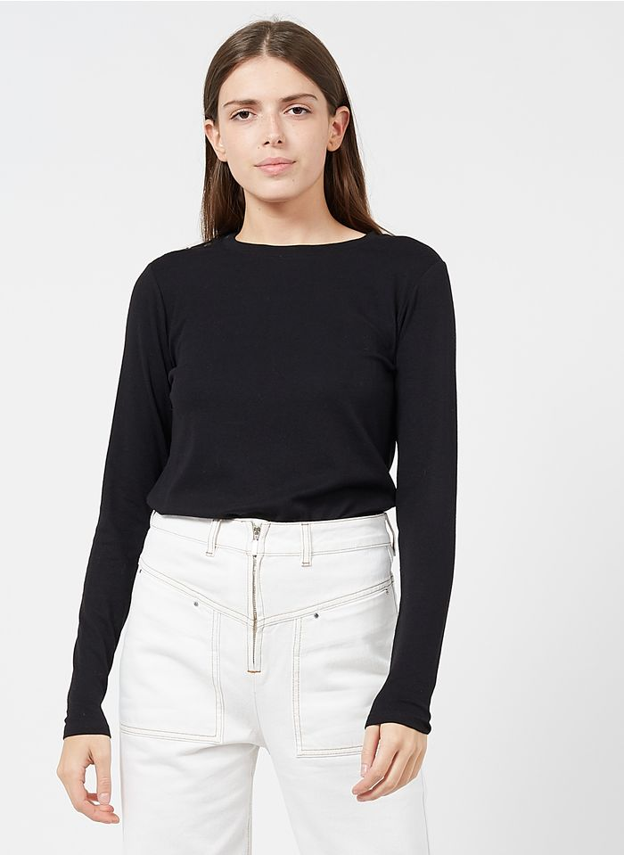 BA & SH T-shirt met ronde hals - katoenblend Zwart
