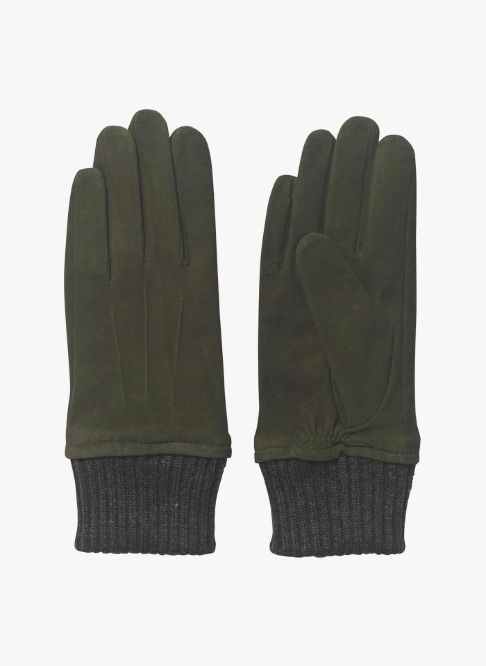 BECKSONDERGAARD Leren handschoenen Groen