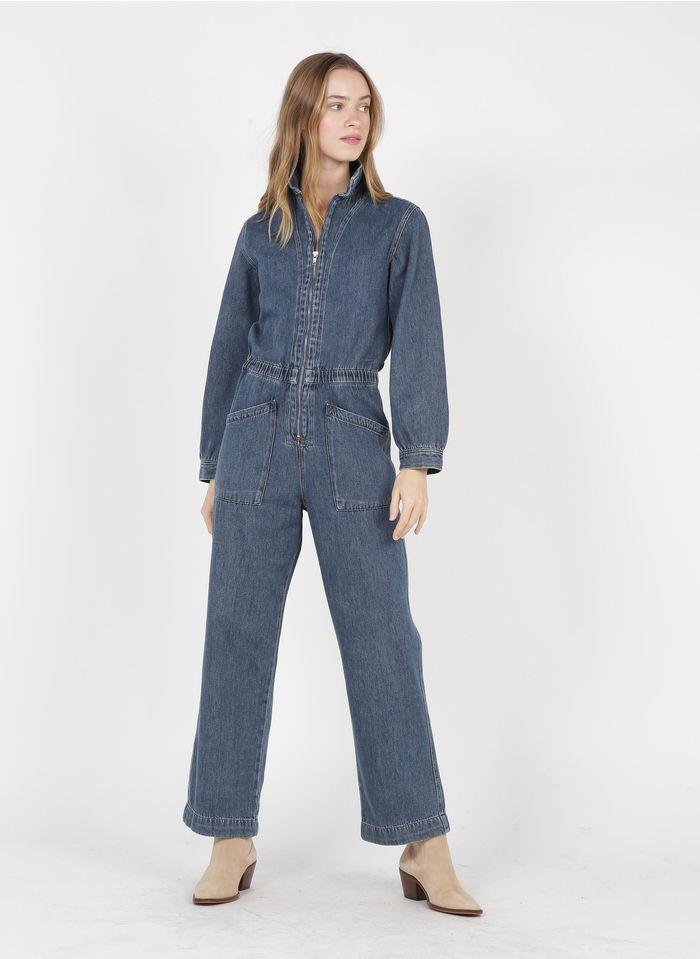 BELLEROSE Jumpsuit van spijkerstof met klassieke kraag Jeans stone