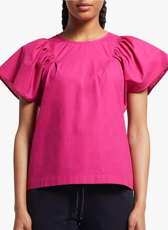 COP.COPINE Katoenen top met ronde hals Roze