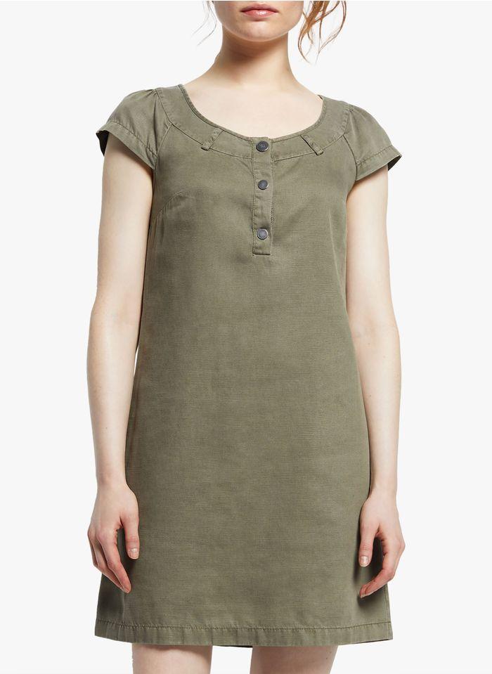 COP.COPINE Korte jurk met knopen Kaki