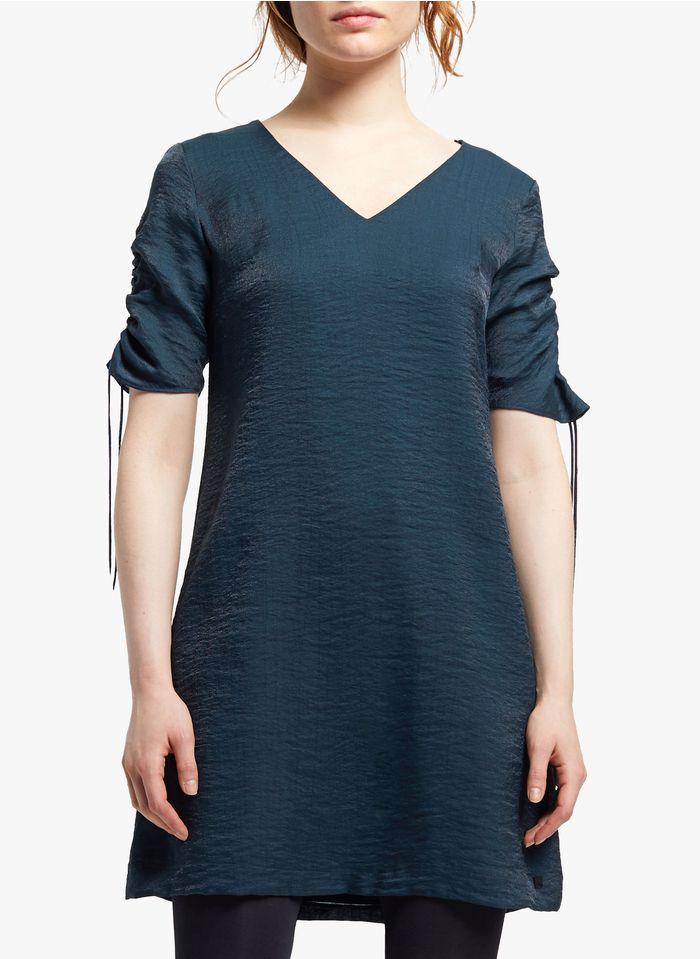COP.COPINE Korte jurk met V-hals Blauw